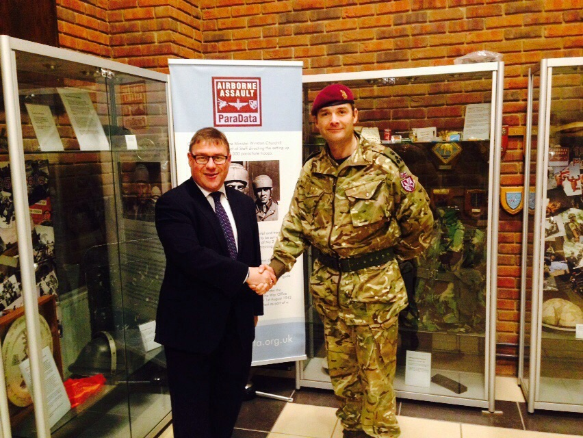 Mark Francois              Armed Forces Minister, Mark Francois Visits the Paras in Colchester