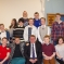 Pictured with members of the Hockley Methodist Church Friday Plus Youth Group