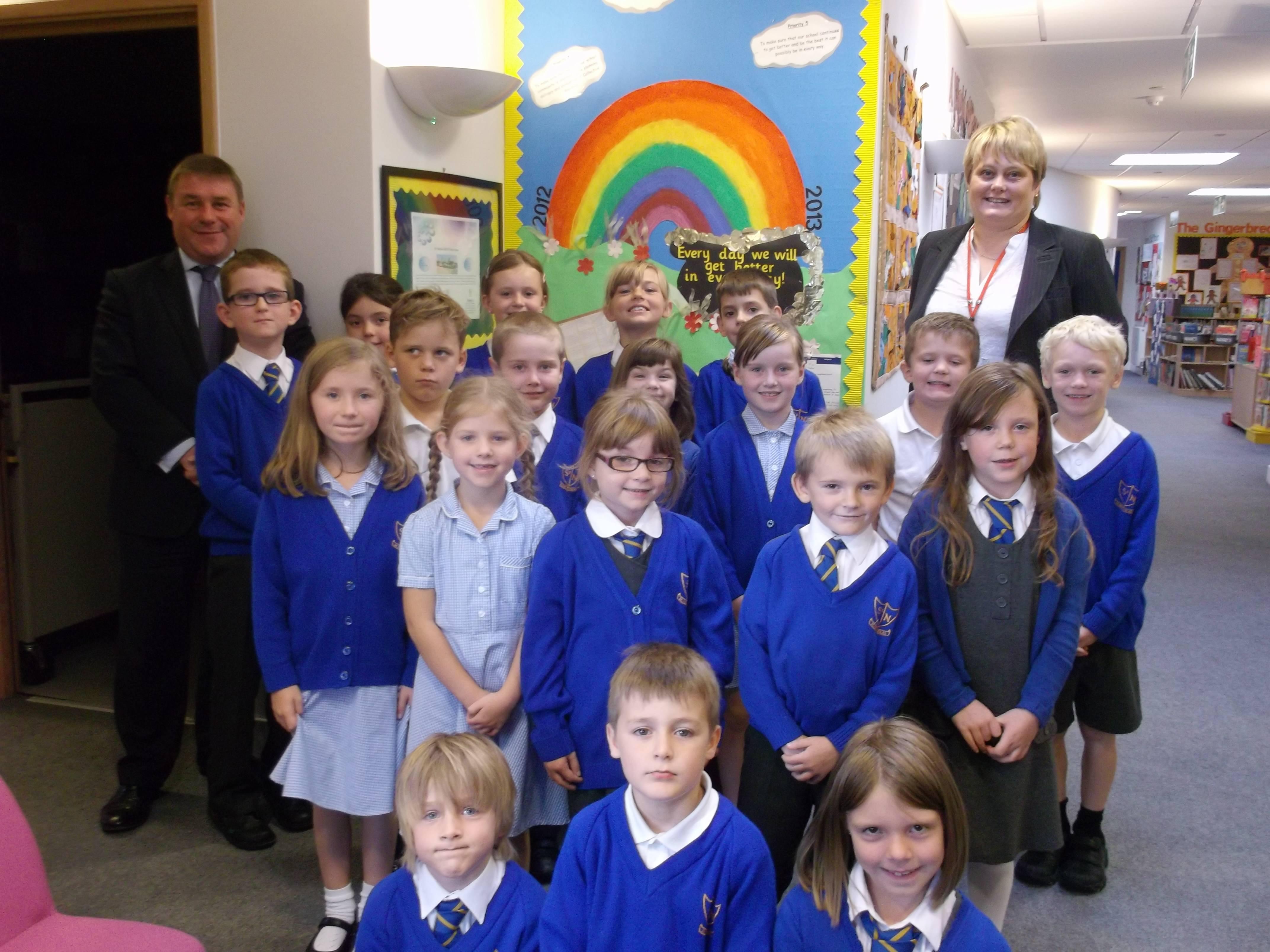 mp visits st nicholas primary school mark francois mp