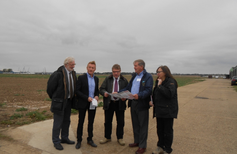 Mark Francois MP pictured with members of the River Crouch Coastal Communities Team at the launch of their new leaflet showing footpaths around the River Crouch area.