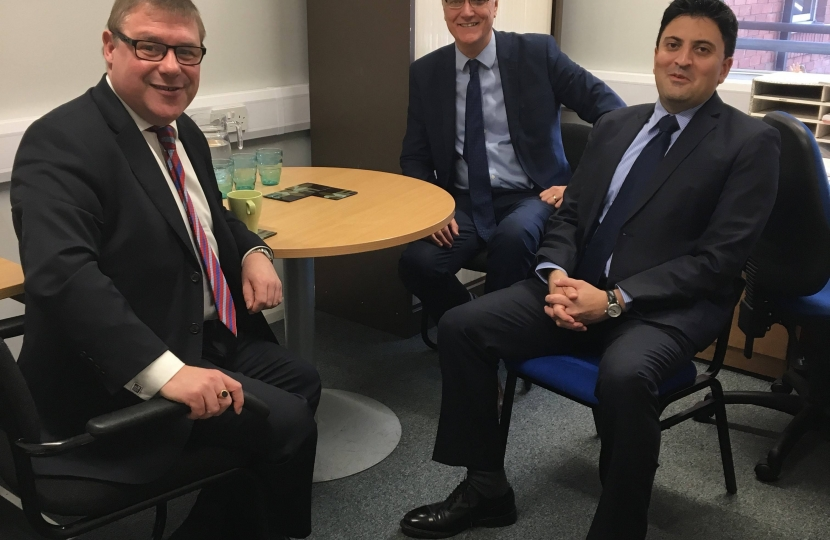 Mark Francois MP pictured at his recent meeting with Dr Kashif Saddiqui, Chair, and Mr Ian Stidston, Accountable Officer of the Castle Point and Rochford Clinical Commissioning Group.
