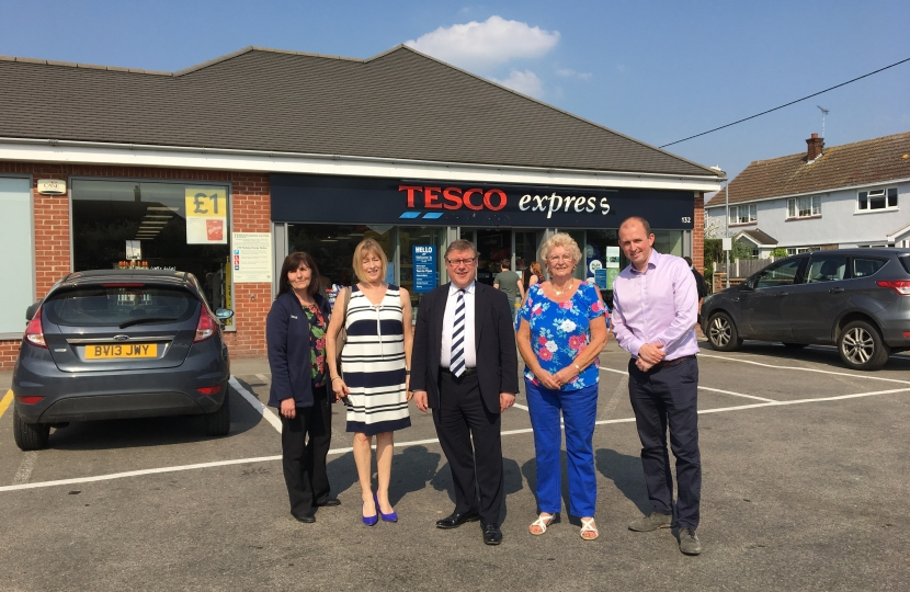 Campaigners get car park expanded at Tesco Express | Mark Francois MP